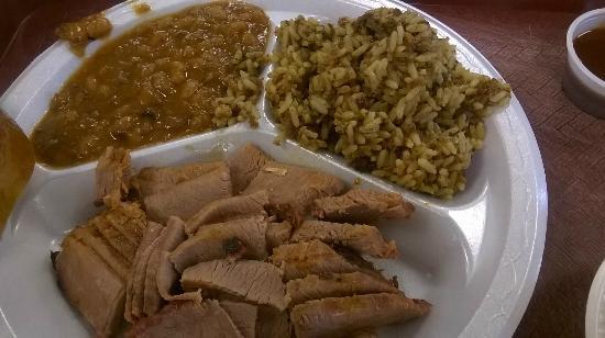 Danken Trail B-B-Q: Lean Brisket, Beans and Dirty Rice
