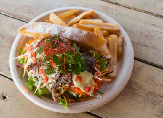 Federal, Australia: The- fine steak sandwich