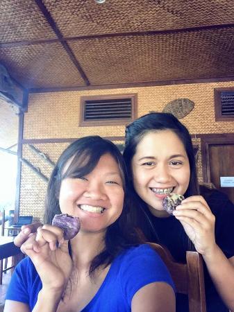 Nitivos Beach Resort: With Elena eating Palawan Hopia