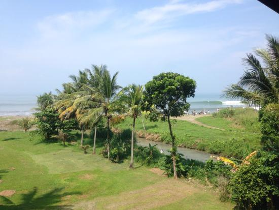 Cimaja, Indonesia: View from my room