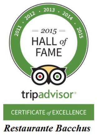 Restaurante Bacchus : Hall of fame