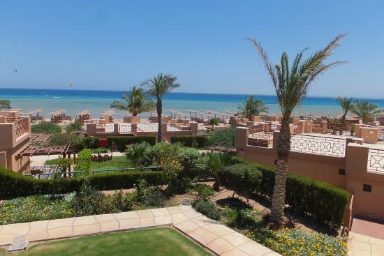 Shams Prestige Abu Soma Resort : Aussicht vom Bungalw Richtung Strand