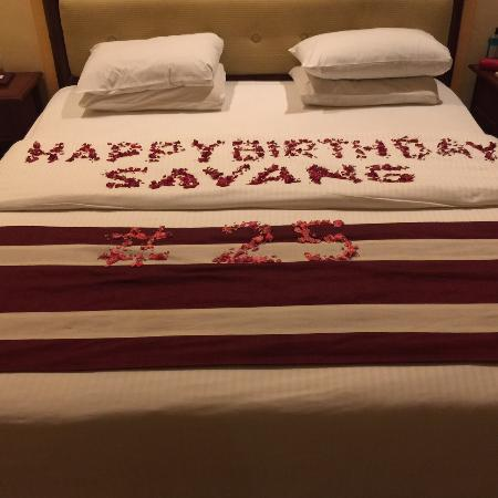 Flower decoration for birthday in room Picture of Grand Istana
