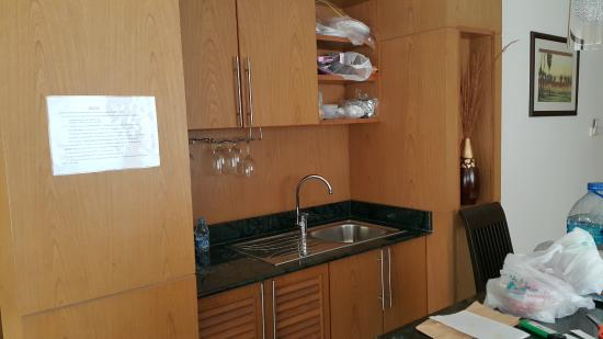 My Place @ Hua-Hin Hotel: suite sink/cupboards