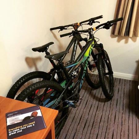 Premier Inn Ebbw Vale Hotel : The bikes slept well too...