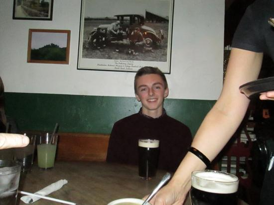 Fiddler's Hearth Public House: our grandson at Fiddlers