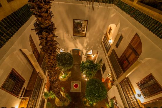 Riad l'Orangeraie: Garden patio