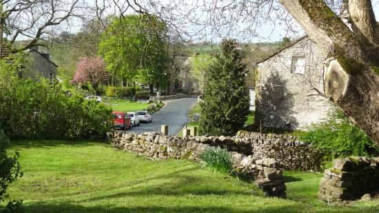 YHA Malham : View from the YHA outside picnic area
