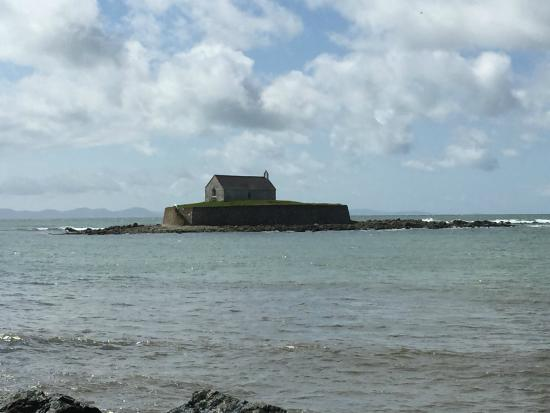 Anglesey Walking Holidays - Day Tours : Church in the sea Aberffraw.