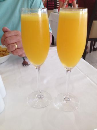 Mimosas at breakfast.