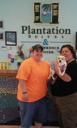 Plantation Suites : The staff here is REALLY pet friendly!! Thanks!