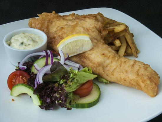 Hay's Dock Cafe Restaurant: Locally landed fresh haddock and chips