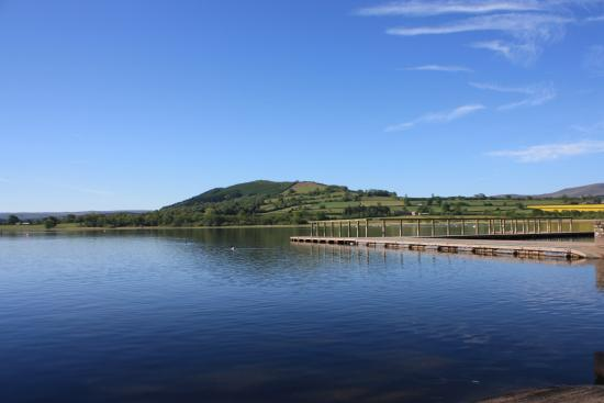Llangorse Lake looking towards the Allt