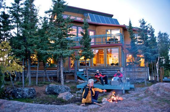 Blachford Lake Lodge: Main lodge - Summer nights at the fire.