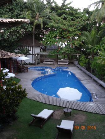 Pousada Farol das Tartarugas: piscine vue depuis la chambre