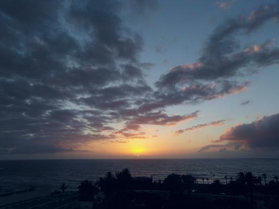Apartamentos Teneguia: puesta de sol desde la terraza