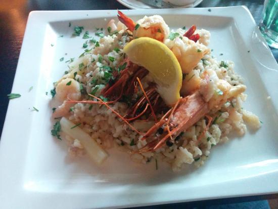Restaurant Piccolo Mondo Amsterdam: Risotto with scampi and asparagus