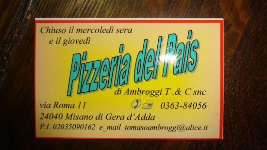 Pizzeria Del Pais