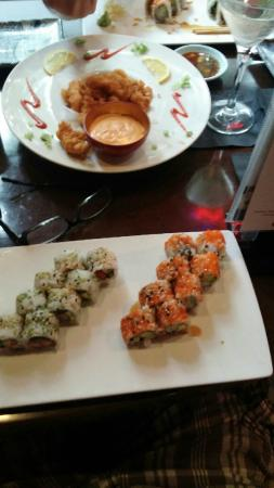 Rangetsu: happy hour sushi rolls and calamara