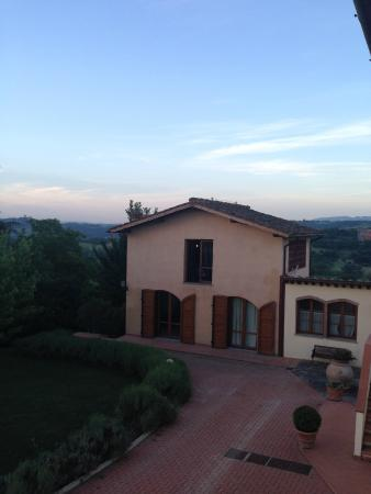 Borgo di Casagrande: view from upstairs apartment