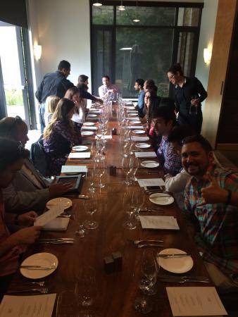 Bardessono: Great private dining room!