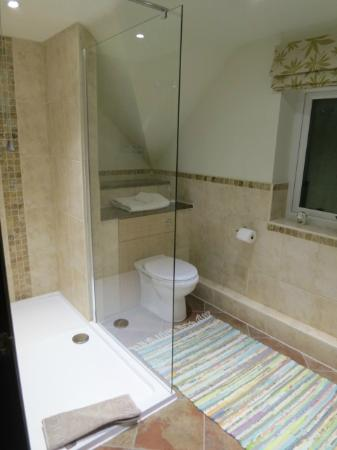 Richmond Hill Bed & Breakfast: bathroom with a very spacious and lovely powerful shower