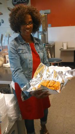Larry's  Hot Tamales: Packing up the tamales