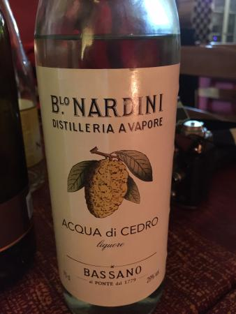 Licor de cedro! - Bild von Piccola Cucina Italiana, Sant Cugat del ...
