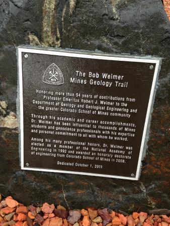 Bob Weimer Mines Geology Trail