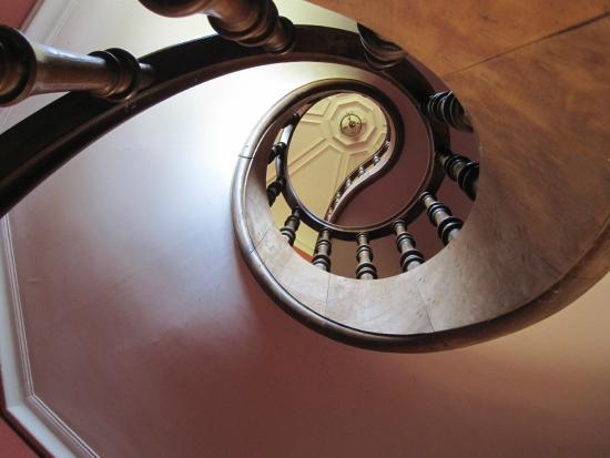 Haras de la Potardière : Escalier intérieur du Château