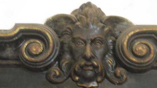 Preston Castle: Ornate piece over safe