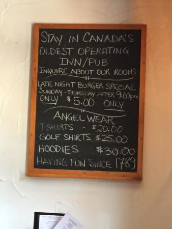 Menu - The Olde Angel Inn Photo