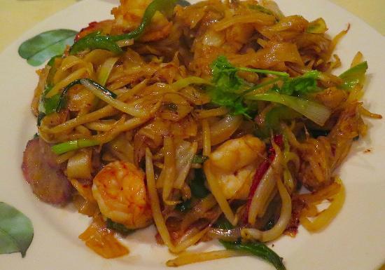 Amber Regent: King Prawn, Cha Siu and Ho fan Noodles