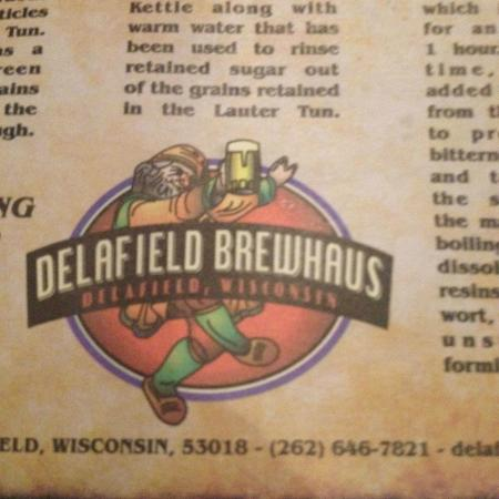 ‪‪Delafield Brew Haus‬: From the menu‬