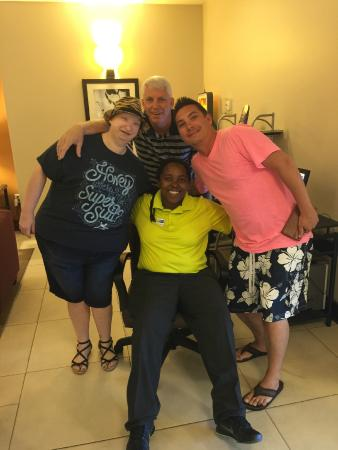 Holiday Inn Express Hotel & Suites Jacksonville - Mayport / Beach: Elesha and our Family!
