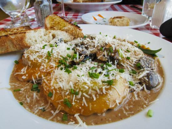 Heidi's Italian Dinners: Small Portabello Mushroom Ravioli with Marsala Sauce