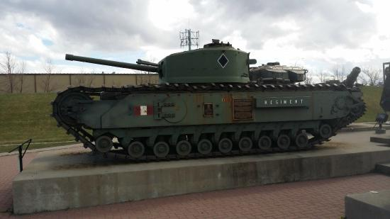 The Military Museums: Sherman tank from WW2