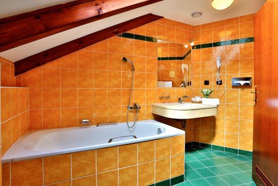 Hotel Carlton: Bathroom with bathtub