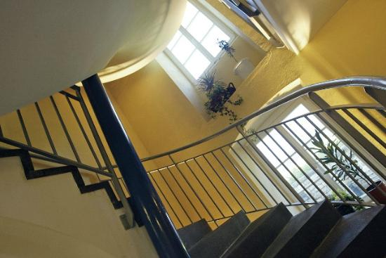 Youth Hostel Bourglinster: The inside of our hostel is pleasantly decorated