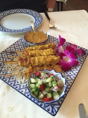 Chieng Mai : Brochettes de poulet satay