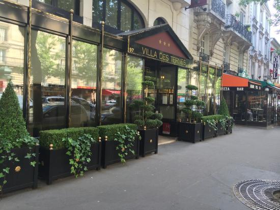 H tel la villa des ternes 2 5 2 189 voir les for Hotel les jardins de la villa paris 17
