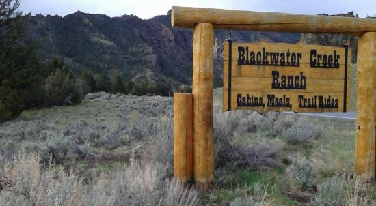 Blackwater Creek Ranch: Main sign.  You know you've arrived at the ranch