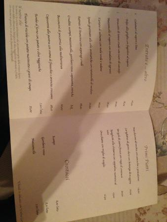 Monte San Pietro, Italien: Il menu