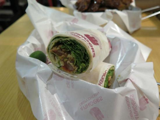 Chicken Wrap Picture Of 4 Fingers Crispy Chicken Singapore Tripadvisor