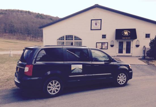 Cooperstown, Nowy Jork: Our van at Brewery Ommegang
