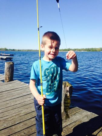 Hunter Winfield's Resort : My sons first ever fish!