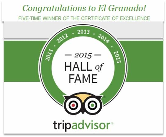 TripAdvisor Hall of Fame - 2011-2015 Award Winners - El Granado