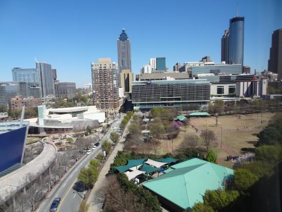 hilton garden inn atlanta downtown the view of downtown atlanta from our room - Hilton Garden Inn Atlanta