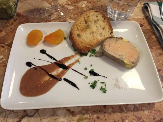 entr e foie gras picture of les chandelles lyon tripadvisor. Black Bedroom Furniture Sets. Home Design Ideas