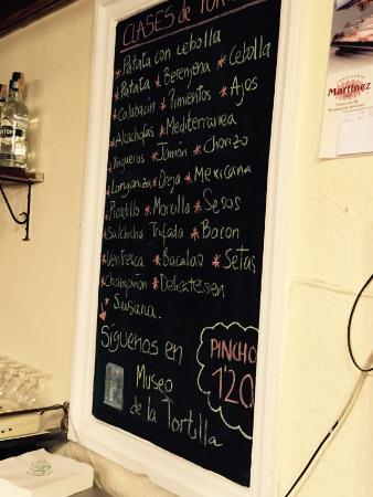 Museo de la Tortilla: Pinchos de tortillas de todo tipo